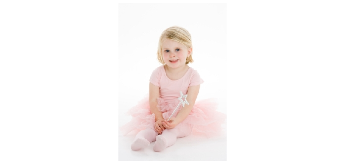 Little Girl In Ballet Costume Holding Wand